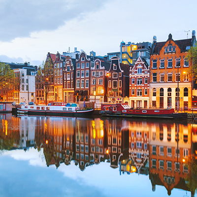 View of Amsterdam, the Netherlands