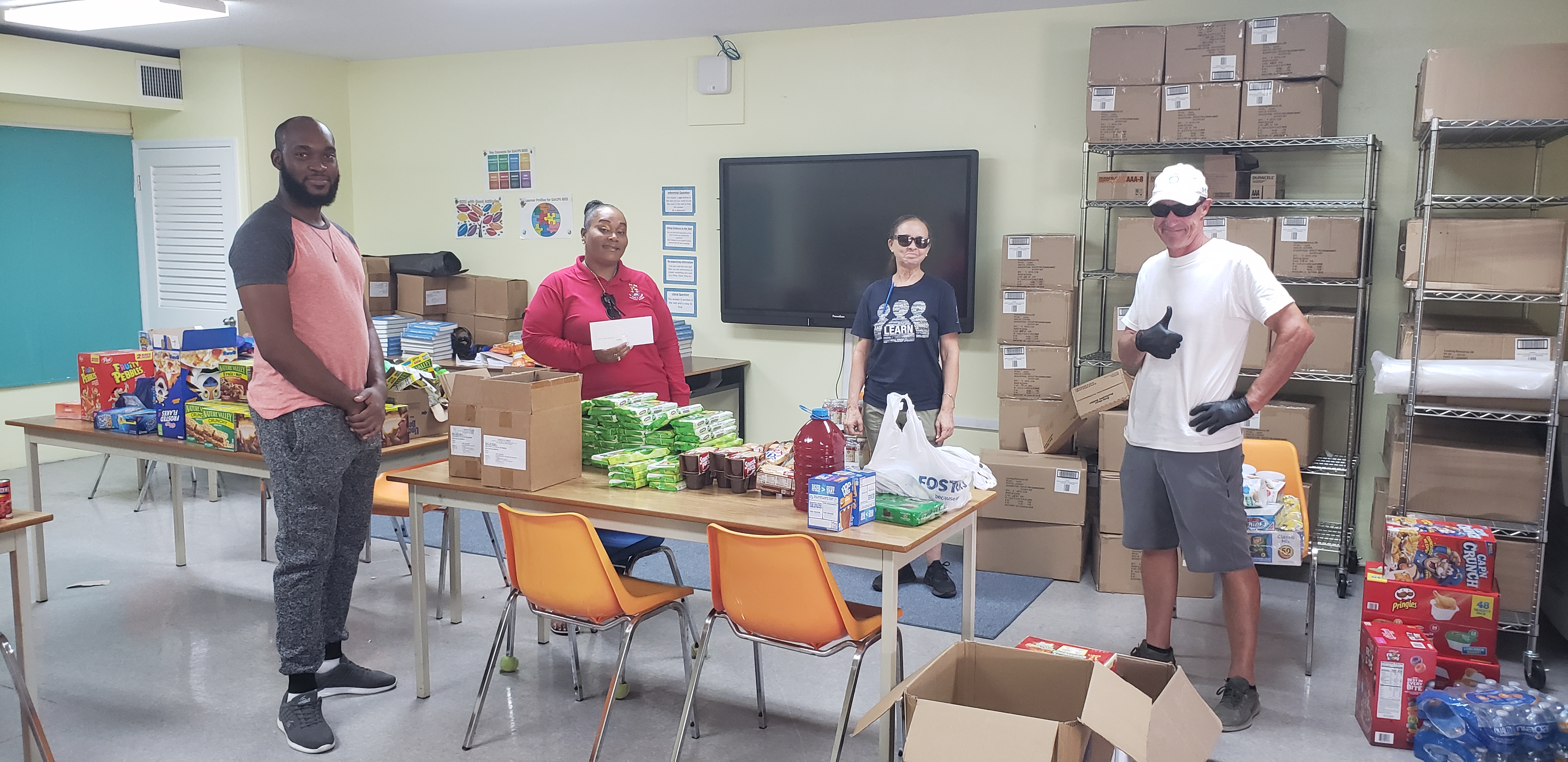 Cayman food donations