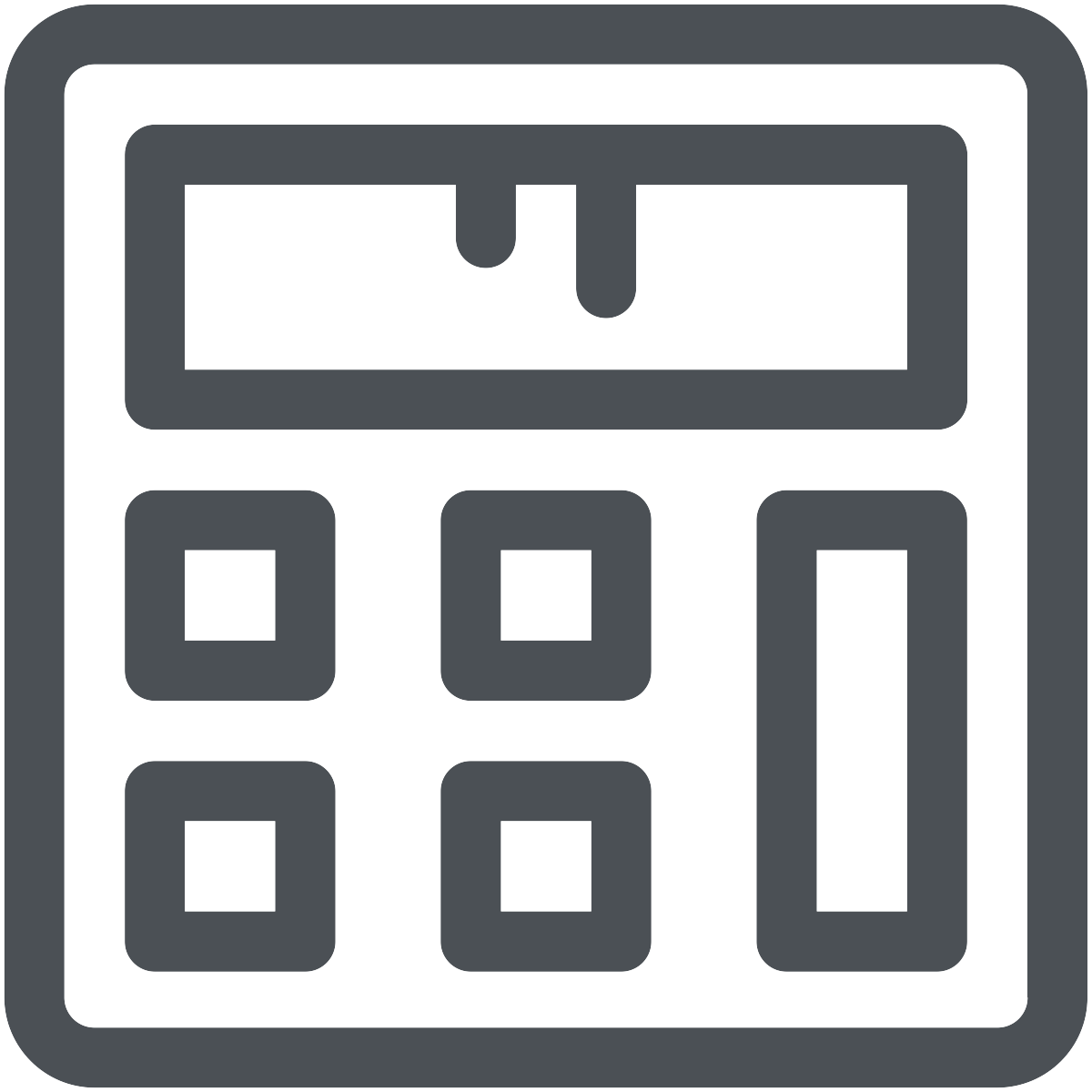 Accounting grey icon