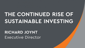 The continued rise of sustainable investing