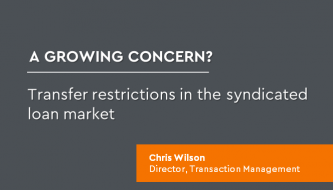 Transfer restrictions in the syndicated loan market