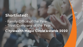 Shortlisted in Citywealth magic Circle Awards 2020