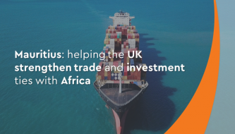 How is Mauritius able to help the UK strengthen trade and investment ties with Africa?