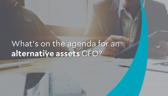 What's on the agenda for an alternative assets CFO?