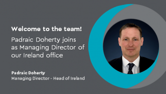 Padraic Doherty joins as Managing Director