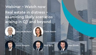 Webinar: Real estate in distress - examining likely scenarios arising in Q3 and beyond