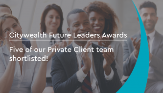 Citywealth Future Leaders Awards 2020: Five of our Private Client team shortlisted!