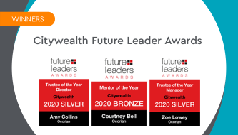 Trio's success at Citywealth Future Leaders Awards 2020