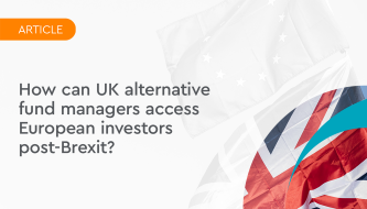 How can UK alternative fund managers access European investors post-Brexit?