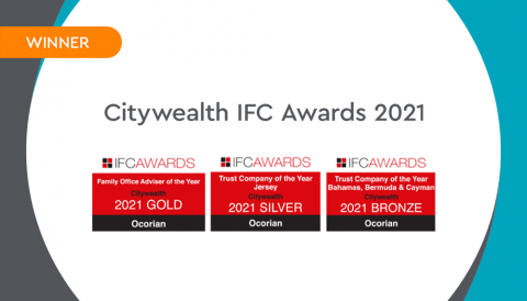 Ocorian named Family Office Adviser of the Year and Trust Company of the Year at 2021 Citywealth IFC Awards